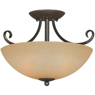 Big Save Berkshire 2-Light Semi Flush Mount By Hardware House