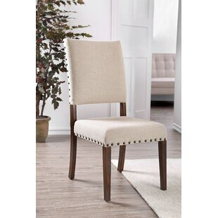 Woodway Upholstered Side Chair In Beige (Set Of 2) By Ophelia & Co.