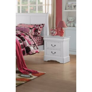 Thorndike Traditional 2 Drawers Nightstand by Charlton Home