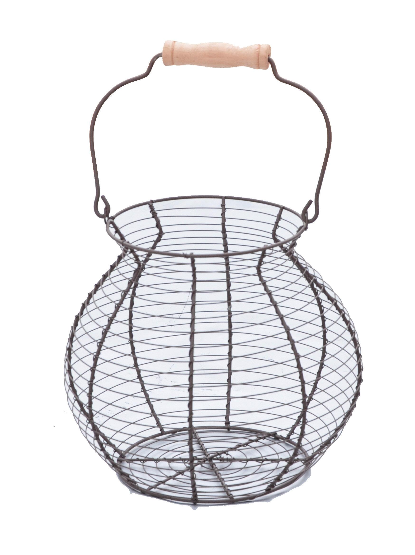 Trademark Innovations Vintage Style Wire Egg Basket & Reviews | Wayfair