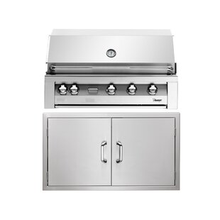 5-Burner Built-In Propane Gas Grill By Vintage
