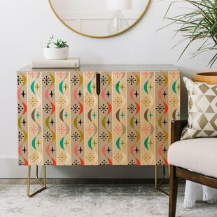 Andii Bird Retro Wave Credenza East Urban Home