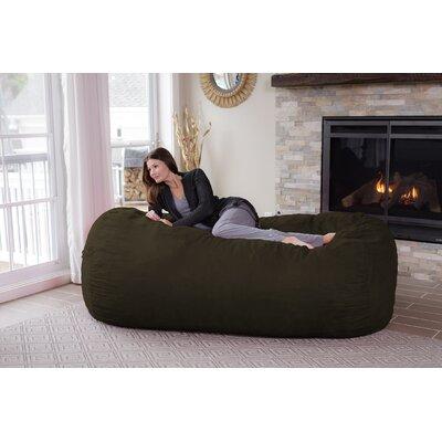 Theater Sacks Bean Bag Sofa Upholstery Color: Olive