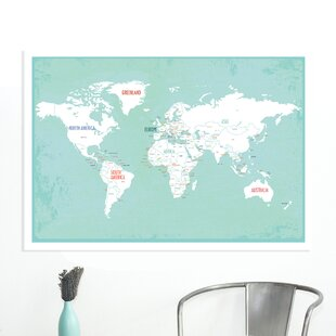 World Map Push Pin Wayfair
