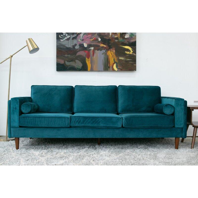 Ballesteros 88 Velvet Square Arm Sofa Reviews Joss Main