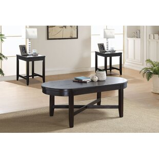 Red Barrel Studio Haralson Wooden 3 Piece Coffee Table Set
