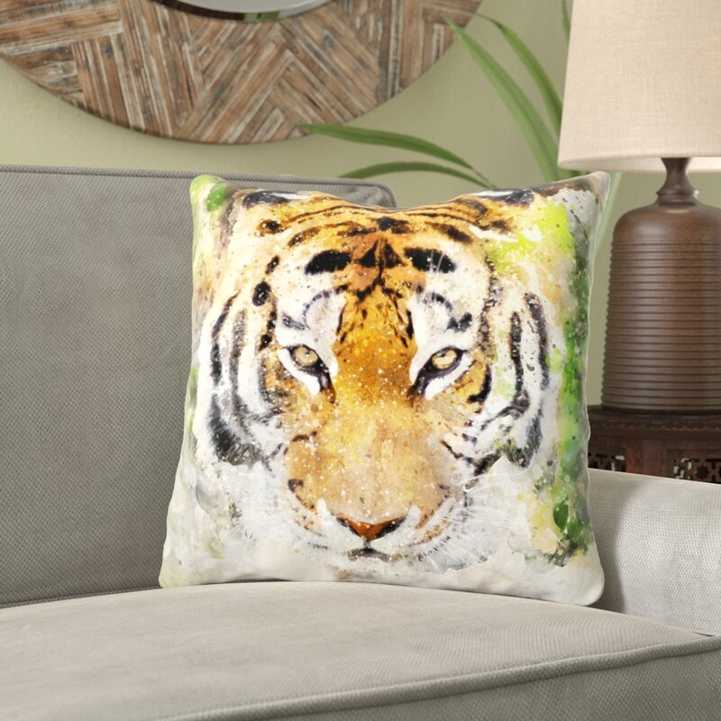 World Menagerie Aula Lion Throw Pillow Wayfair