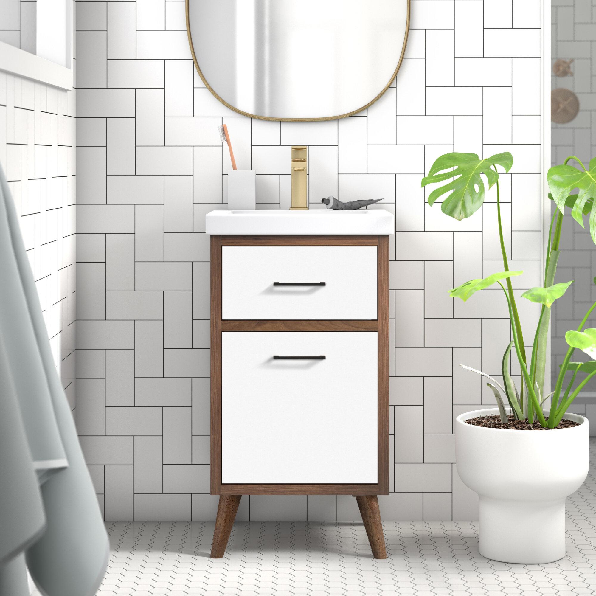 Wade Logan Kenn 18 Single Bathroom Vanity Set Reviews Wayfair