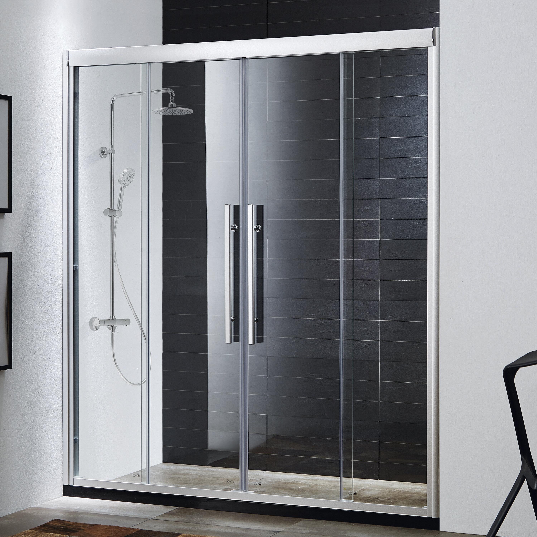 Wet Republic Clarity 59\'\' x 72\'\' Double Sliding Shower Door   Wayfair