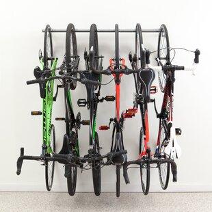 Merveilleux 6 Bike Storage Wall Mounted Bike Rack