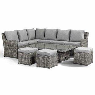 Bardin 9 Seater Rattan Corner Sofa Set Image