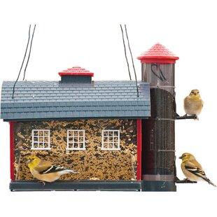 Heritage Farms Red Barn Decorative Hopper Bird Feeder