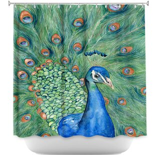 Splendor Peacock Single Shower Curtain