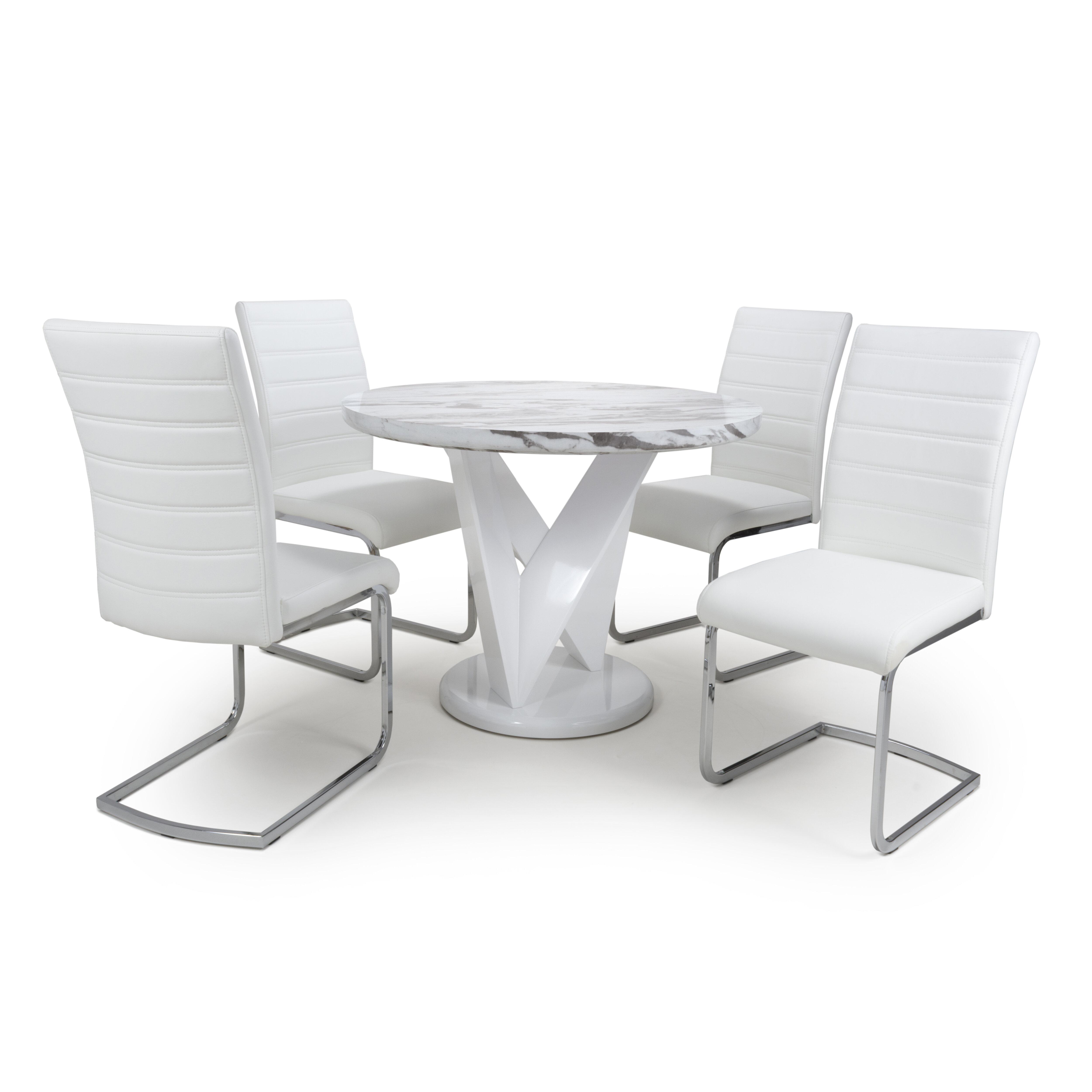 Ivy Bronx Athol Dining Set With 4 Chairs Wayfair Co Uk