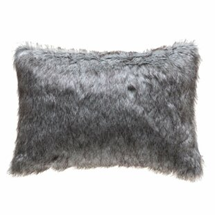 Arine Indoor/Outdoor Faux Fur Lumbar Pillow Cover