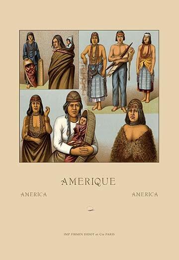 Buyenlarge Native Americans Killimous By Auguste Racinet Vintage Advertisement Wayfair