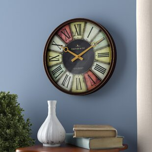Low priced 12 Trendy Wall Clock by Andover Mills