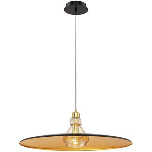 Brayden Studio Priscilla Polished 1-Light Inverted Pendant