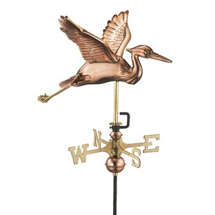 Caddis Heron Weathervane By Sol 72 Outdoor