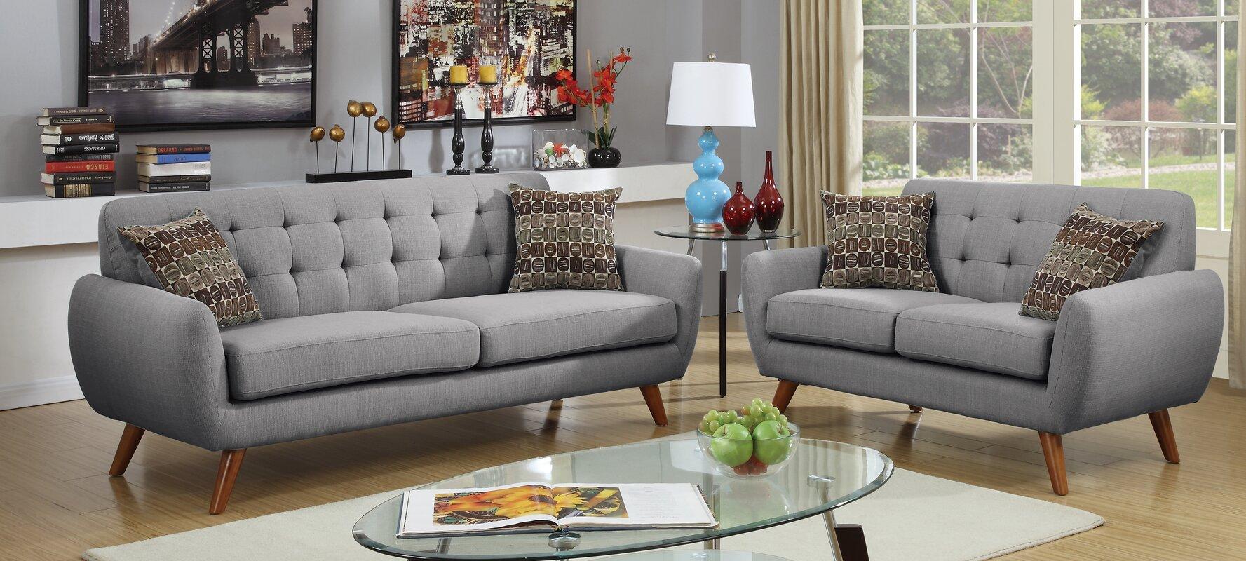 Langley Street Takeo 2 Piece Living Room Set & Reviews | Wayfair