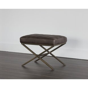 Sunpan Modern 5West Wisconsin Faux Leather Bench