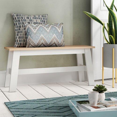 Sitzbank Beecher Falls aus Holz | Küche und Esszimmer > Sitzbänke > Einfache Sitzbänke | Eiche und grau | Küstenhaus
