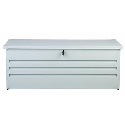Cebrosa Outdoor 158 Gallon Metal Deck Box Beliani Color: White