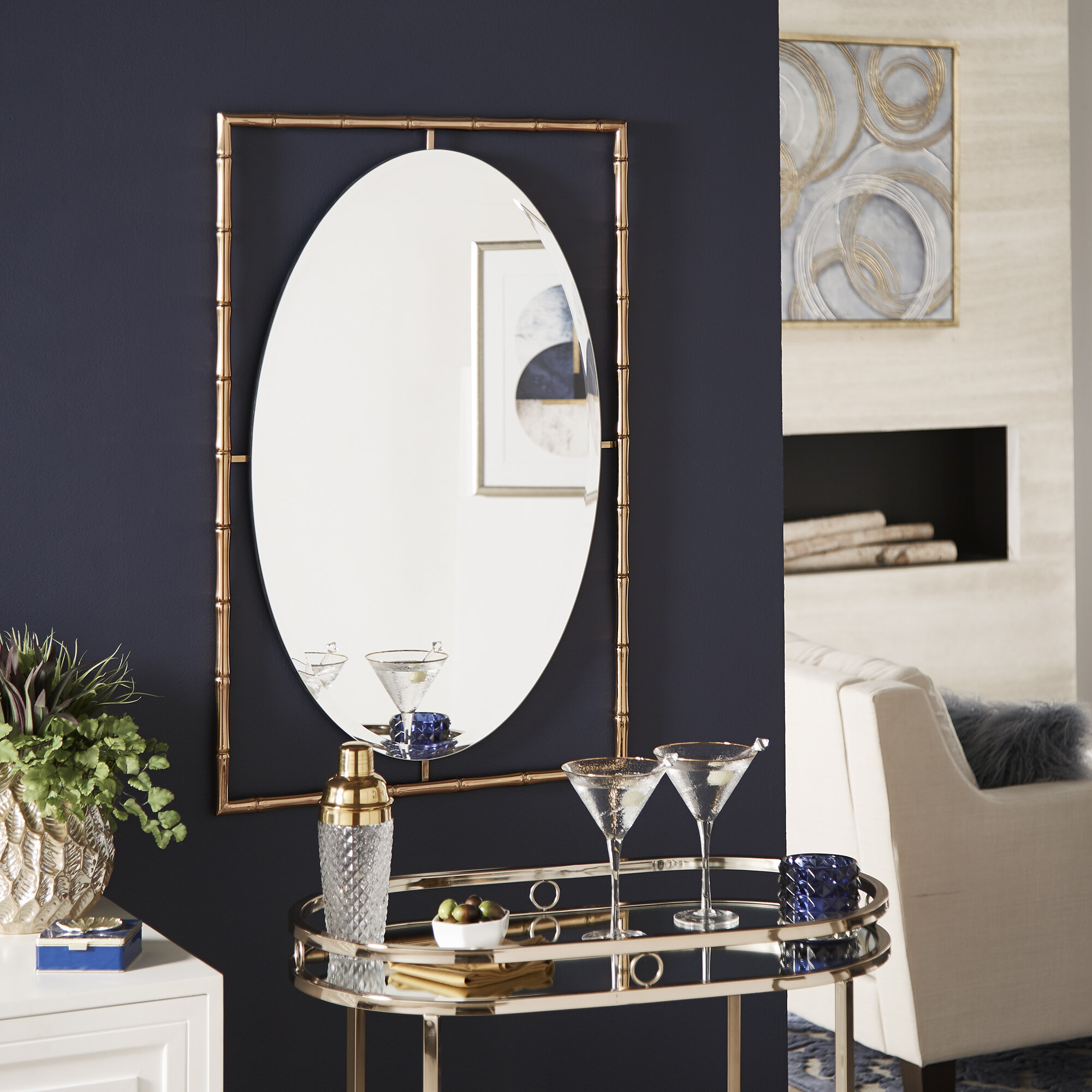 World Menagerie Calthorpe Eclectic Beveled Accent Mirror Reviews Wayfair