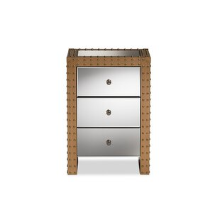 Luff 3 Drawer Nightstand by 17 Stories