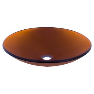 Reviews In Basso Glass Circular Vessel Bathroom Sink By Novatto