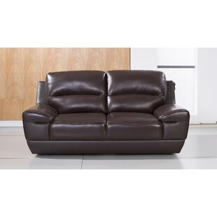 Stratton Leather Loveseat by American Eag..