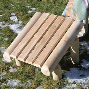 Cedar Log Ottoman by Rustic Natural Cedar Furniture