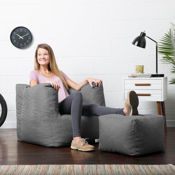 Admirable Bean Bag Chair With Ottoman Wayfair Spiritservingveterans Wood Chair Design Ideas Spiritservingveteransorg