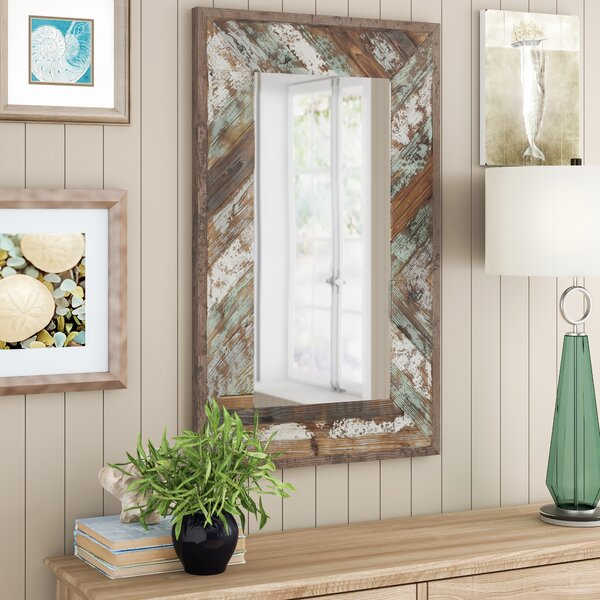Distressed Wood Frame Mirror Wayfair