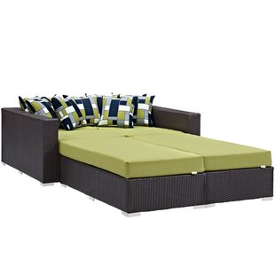 Brentwood 4 Piece Patio Daybed with Cushions