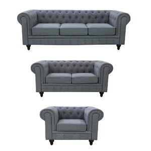 Plowman 3 Piece Living Room Set