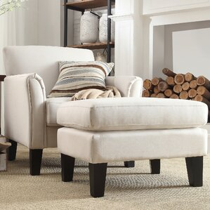 Three Posts Crumpton Modern Armchair and Ottoman Image