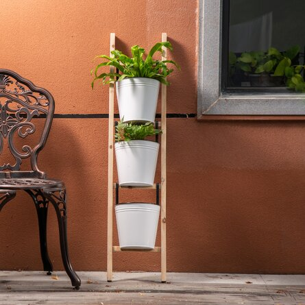 Jardin vertical à échelle inclinée émaillée Amick