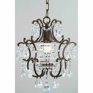 1-Light Crystal Foyer Pendant by JoJospring