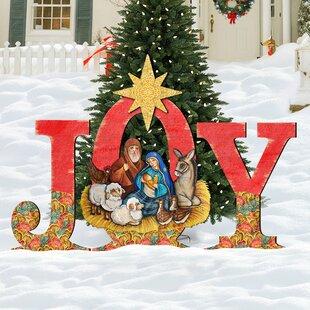 joy nativity yard lawn art