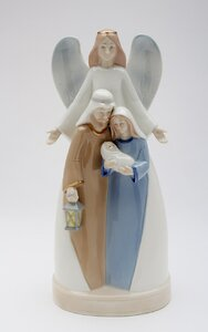 Holy Family with Angel Musical Box