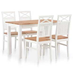 Maddock Dining Set With 4 Chairs By August Grove