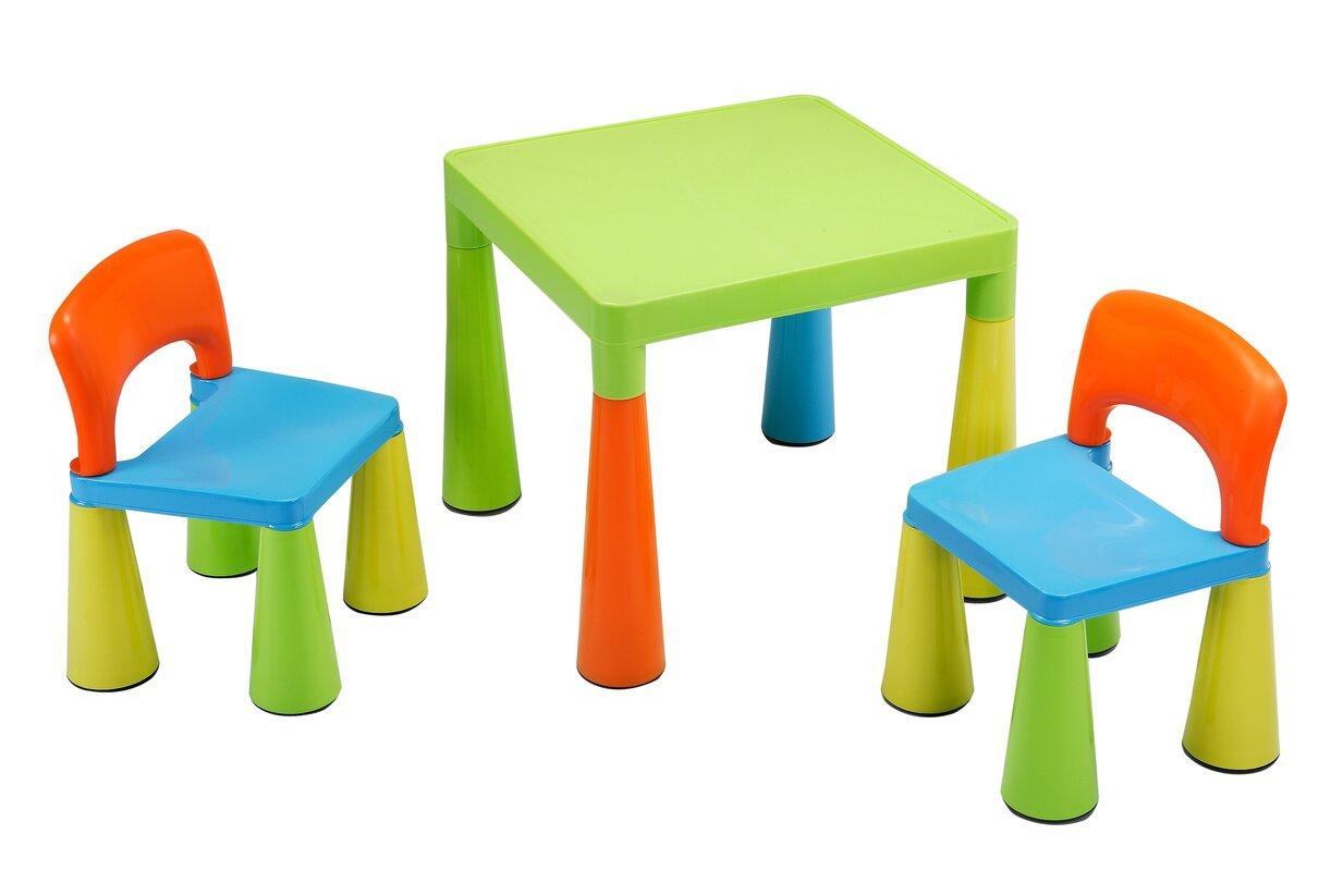 Kindertisch Stuhl liberty house toys 3 tlg quadratisches kinder tisch und stuhl set