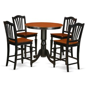 Jackson 5 Piece Counter Height Pub Table Set East West Furniture