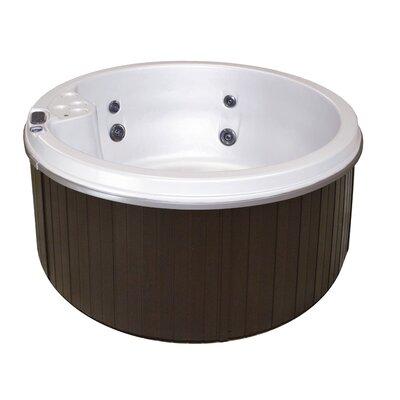 5-Person 9-Jet Plug and Play Hot Tub Cyanna Valley Spas Finish: White/Mahogany