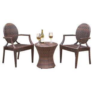 Karina 3 Piece Bistro Set