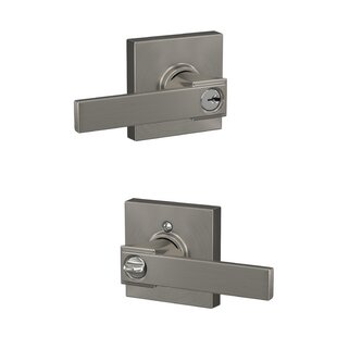 Northbrook Lever with Collins Trim Keyed Entry Lock by Schlage