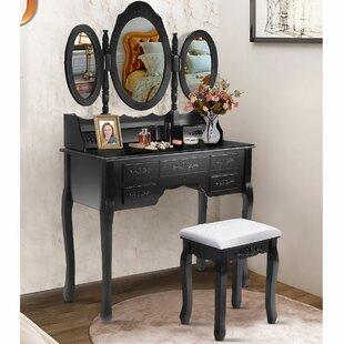 Courtney Vanity Set with Mirror by Astoria Grand