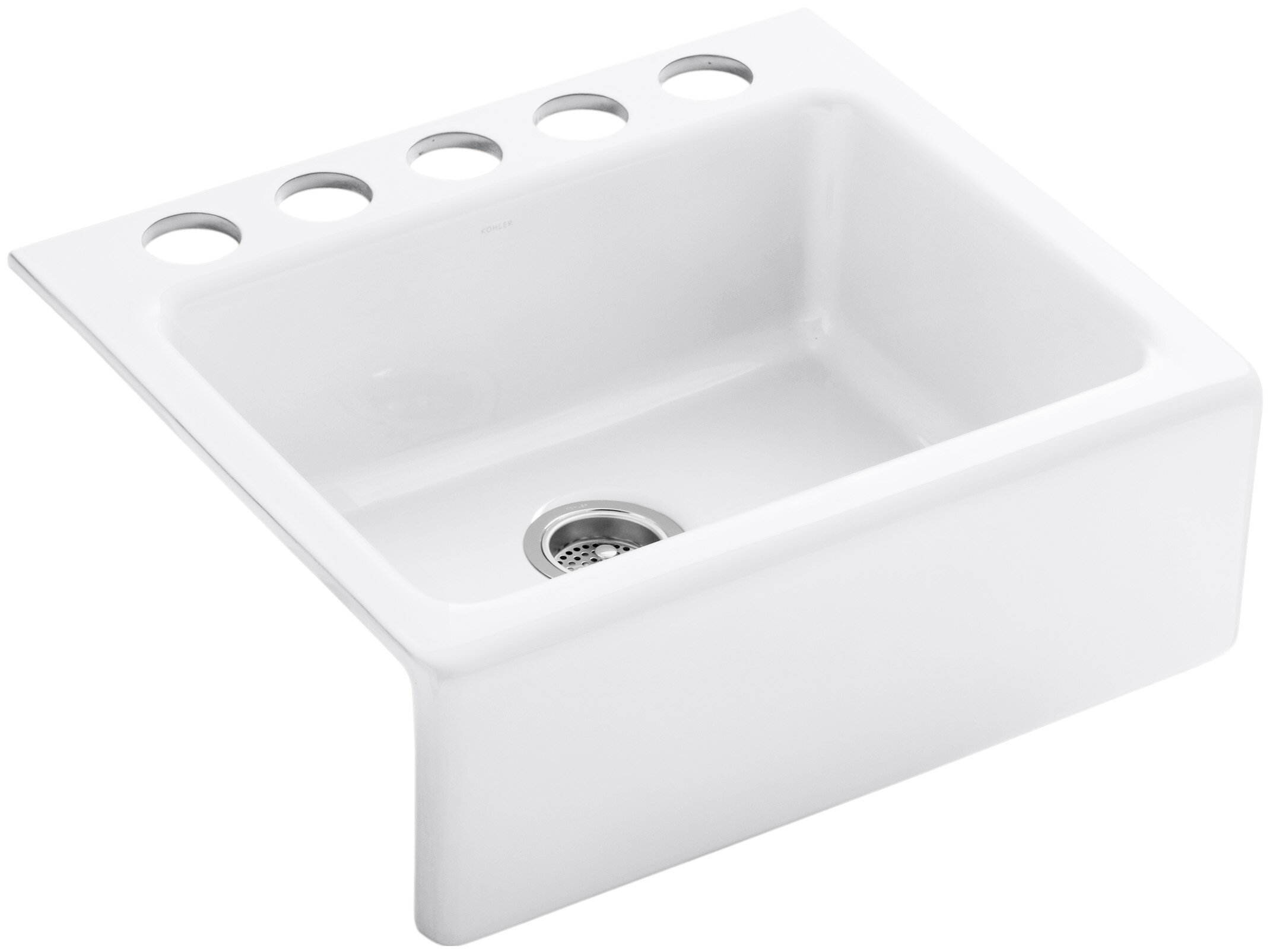 Alcott 25 L X 22 W 8 5 Under Mount Single Bowl Kitchen Sink With A Front And Oversize Faucet Holes