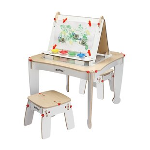 Affordable Price Nathaniel Arts and Activity Kids 4 Piece Square Furniture Set with Easel ByZoomie Kids